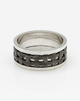 Le Château Silver Basket Weave Ring