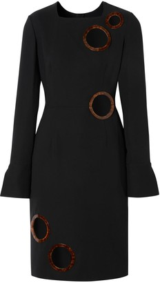 Burberry Cut-out Detail Stretch Silk Crepe Shift Dress