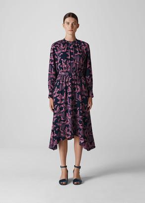 Papillion Print Shirt Dress