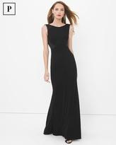 White House Black Market Petite Black Drape Back Gown