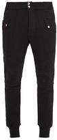 Balmain Contrast-panel cotton track pants