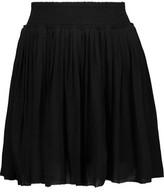 Joie Bridger Pleated Crepe Mini Skirt