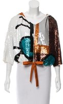 Easton Pearson Sequined Silk Jacket w/ Tags