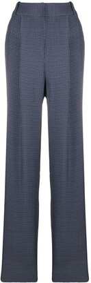 Giorgio Armani Geometric-Pattern High-Rise Trousers