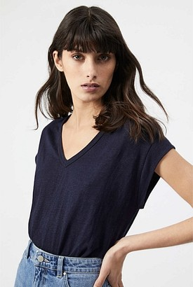 Witchery Linen V Neck Tee