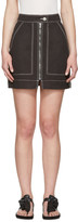 Isabel Marant Black Workwear Denim Demie Miniskirt