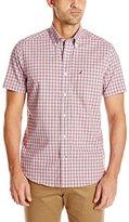 Nautica Men's Wrinkle Resistant Gingham Short Sleeve Shirt