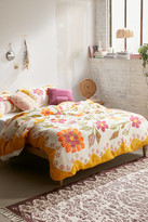 Urban Outfitters Delia Folk Floral Gauze Duvet Cover
