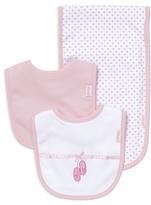 Little Me Infant Girls' Ballet Slipper Bib & Burp Cloth Set