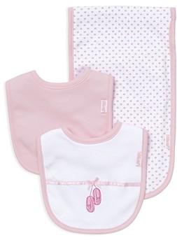 Little Me Infant Girls' Ballet Slipper Bib & Burp Cloth Set - Baby