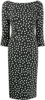 Dolce & Gabbana Polka Dot Midi Dress
