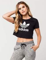 adidas Cropped Trefoil Womens Tee