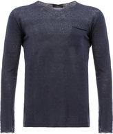 Roberto Collina chest pocket sweatshirt - men - Linen/Flax - 48