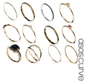 Asos Vintage Style Ring Pack - Multi