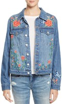 Blank NYC Blanknyc Embroidered Denim Jacket - 100% Exclusive