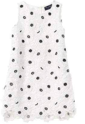 Oscar de la Renta Anemone Flower Silk Dress