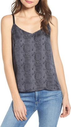 Paige Cicely Faux Leather Strap Camisole