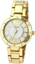 Ellen Tracy Crystal & Goldtone Accent Bracelet Watch
