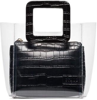 STAUD black Shirley mini leather tote bag