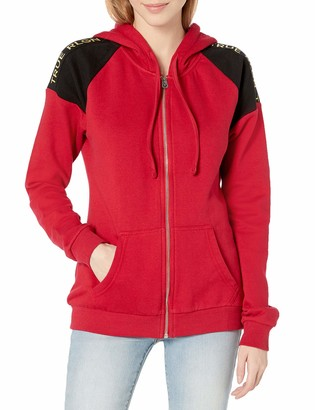 True Religion Women's Long Sleeve Contrast Full Zip-Up Hoodie