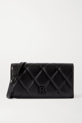 Balenciaga Touch Quilted Leather Shoulder Bag - Black