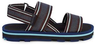 Valentino Grip-Tape Slingback Sandals