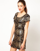 Vero Moda Baroque Sequin Embellished Mini Dress