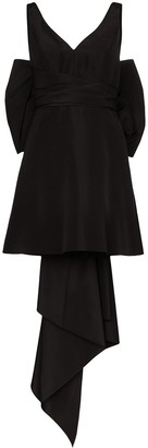 Carolina Herrera Bow-Embellished Silk-Taffeta Mini Dress