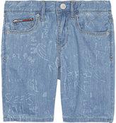 Tommy Hilfiger Clyde graffiti denim shorts 4-16 years