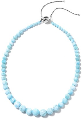 """Shop Lc Larimar Beaded Necklace 925 Sterling Silver Size 19"""" ct 243 - Size 18-24''"""