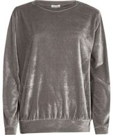 River Island Womens Metallic grey velour sweatshirt