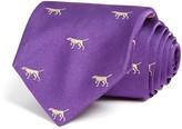 Vineyard Vines Woven Hunting Dog Classic Tie