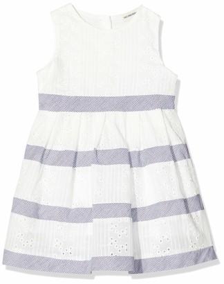 Salt&Pepper Salt and Pepper Baby Girls' mit Lochstickerei und Streifen Dress