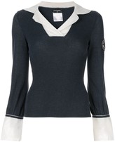 Chanel Pre Owned layered shirt-effect jumper
