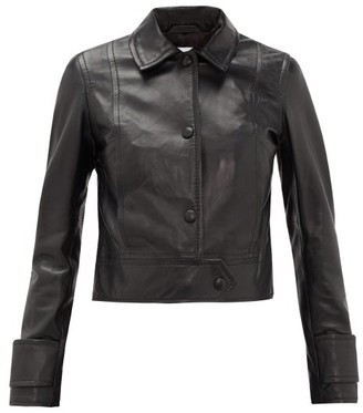 Stand Studio Erin Point-collar Leather Jacket - Womens - Black