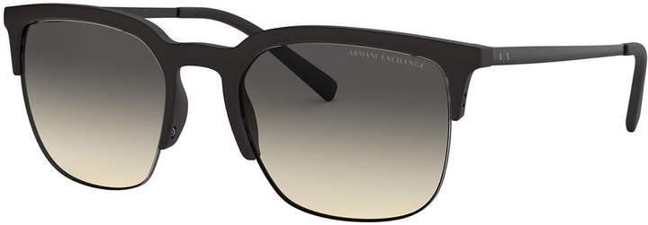 Armani Exchange Forever Young AX4081S 54mm Round Gradient Sunglasses