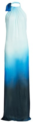 Jonathan Simkhai Ombre Halter Cover-up Dress