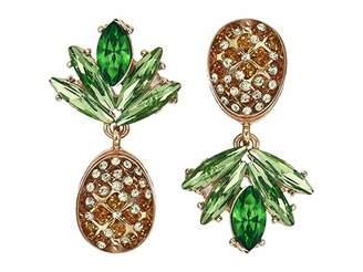 Betsey Johnson Pineapple Drop Earrings