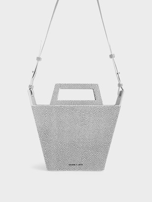 Charles & Keith Structured Trapeze Tote