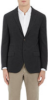 Luciano Barbera MEN'S MICRO-CHECKED SILK TWO-BUTTON SPORTCOAT