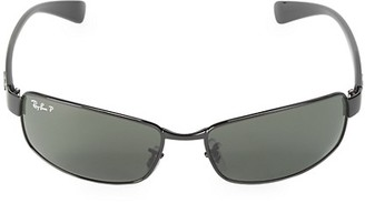 Ray-Ban 62MM Polarized Wrap Sunglasses