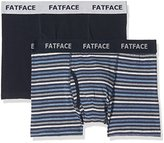 Fat Face Men's 2Pk Worcester Stripe Boxer Shorts