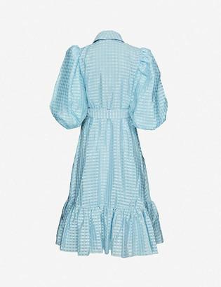 Stine Goya Chinie puff-sleeve crepe midi dress