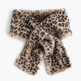 J.Crew Leopard shearling stole