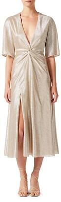 Galvan Stella Metallic Knotted Dress