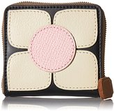 Orla Kiely Square Flower Applique Square Zip Purse Wallet