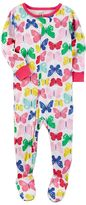Carter's Baby Girl Print Footed Pajamas