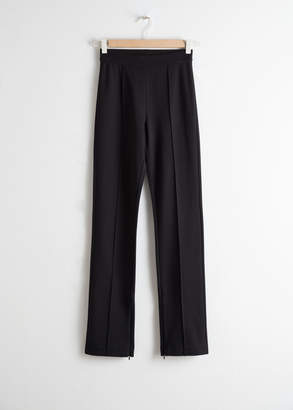 And other stories Stretch Zipper Slit Pants