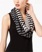 Eileen Fisher Merino Wool Striped Infinity Scarf