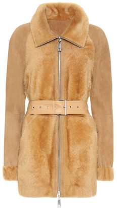 Common Leisure Daffodil shearling coat
